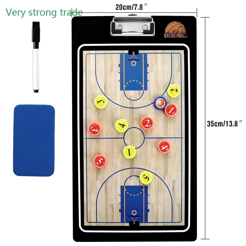 Профессиональная двусторонняя баскетбольная тренировочная доска для тренера с баскетбольной маркировкой сухое стирание тактическая доск...