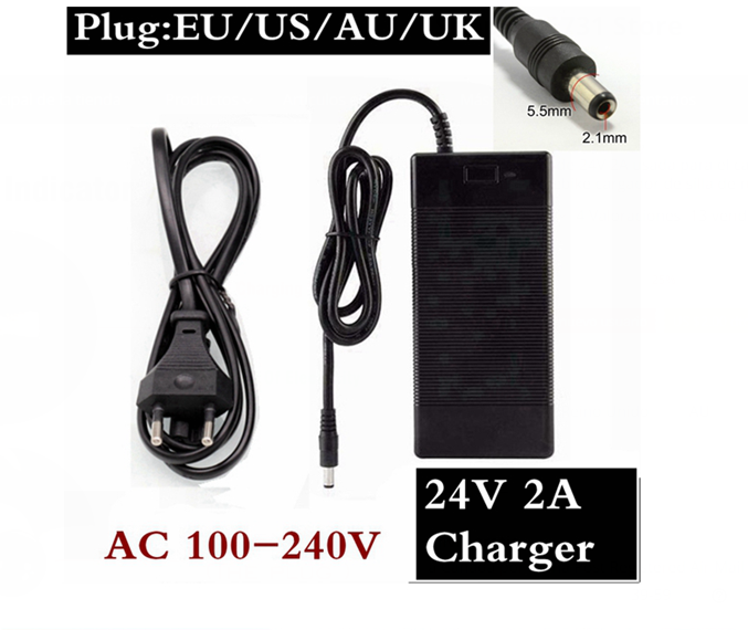 24V 2A lead acid battery Used for <font><b>charger</b></font> 24V 2A <font><b>Charger</b></font> Lead Acid <font><b>Electric</b></font> Scooter ebike Wheelchair <font><b>Charger</b></font> <font><b>Golf</b></font> <font><b>Cart</b></font> <font><b>Charger</b></font> image
