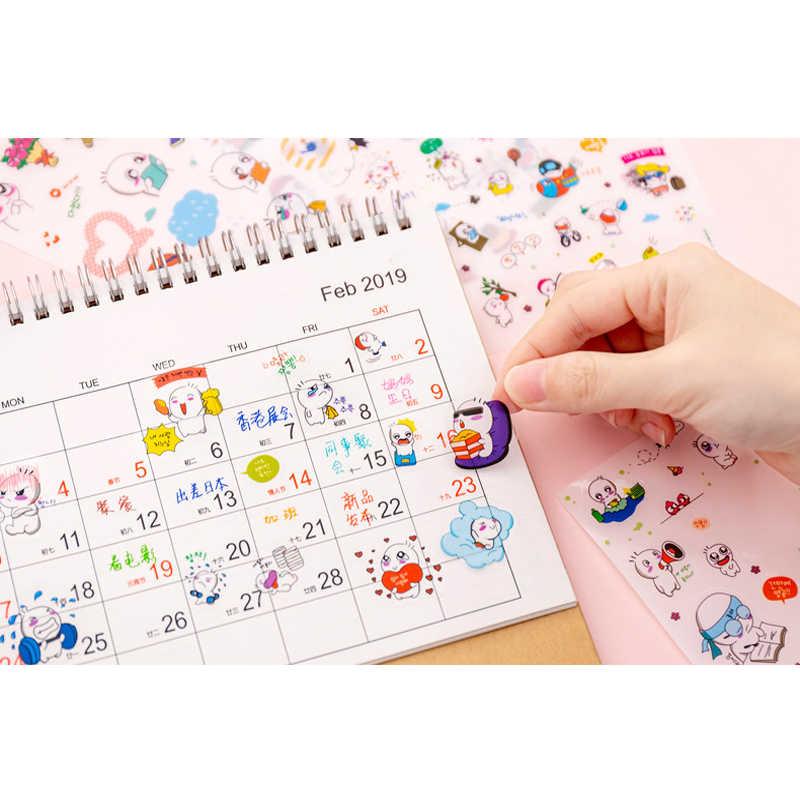 6 unids/lote de dibujos animados de mascotas serie divertida pegatinas decorativas de estilo coreano pegatinas adhesivas Scrapbooking DIY decoración pegatinas de diario