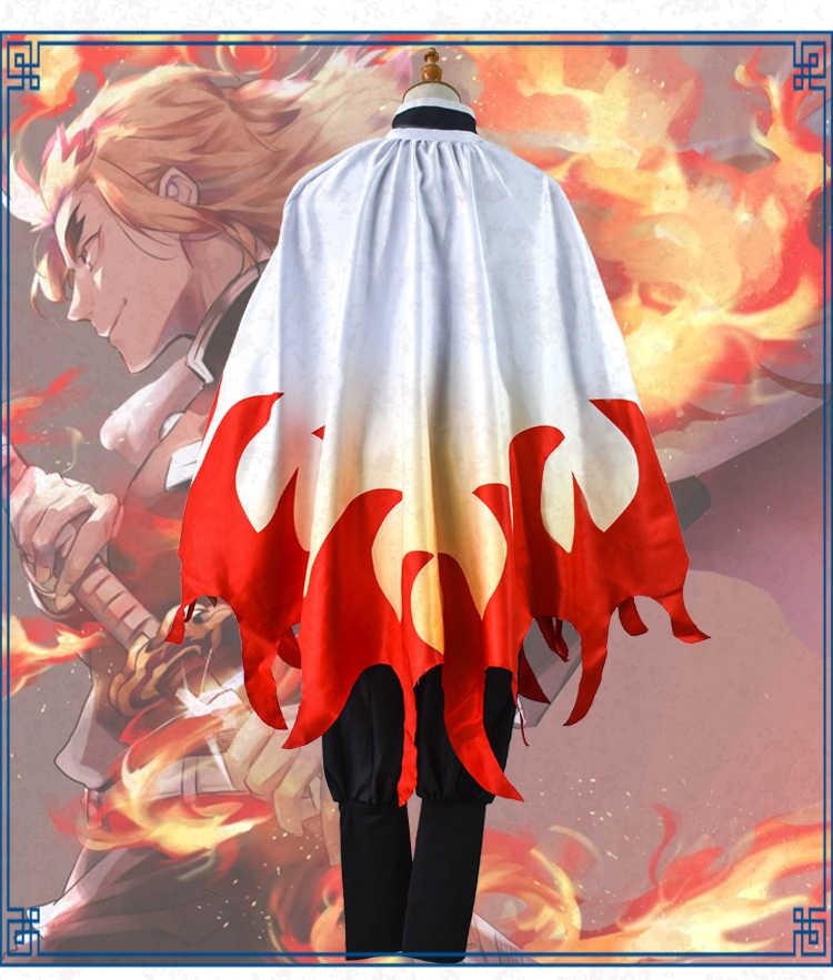Anime Truyện Tranh Demon Slayer Kimetsu Không Yaiba Trang Phục Hóa Trang Rengoku Shinjurou Trang Phục Hóa Trang Halloween Lưỡi Dao Của Con Quỷ Áo Kimono