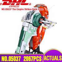 DHL 05037 Star Toys Wars kompatybilny z Lepining 75060 Slave I Star Destroyer zabawki Model Kids Christmas Gift Building Blocks