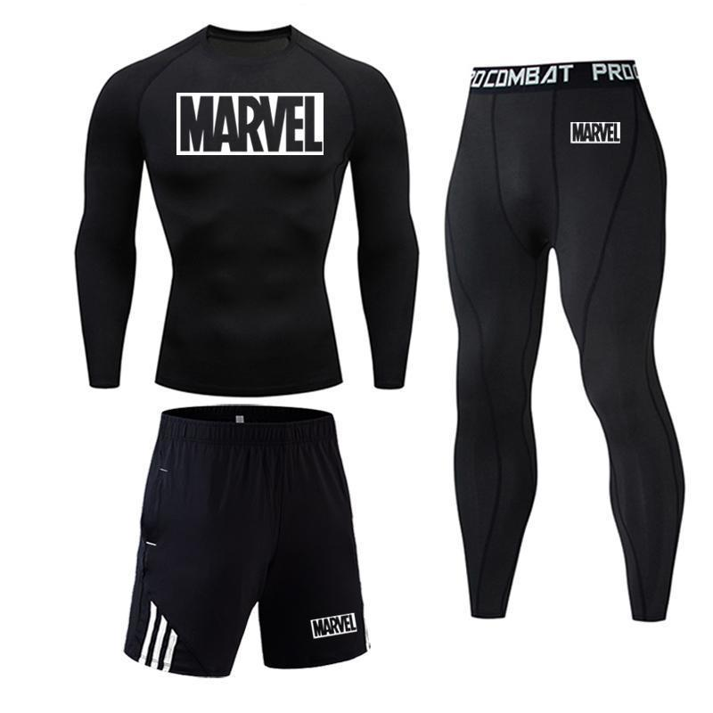 Men Sport Thermal Underwear Sports Compression Underwear Gym Training Tights Quick-Drying Wicking Clothing S-4XL