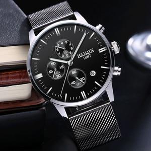 Image 1 - Haiqin 2019 Fashion Mechanische Heren Horloges Topmerk Luxe Sport Horloge Mannen Waterdicht Quartz Herenhorloge Relogio Masculino