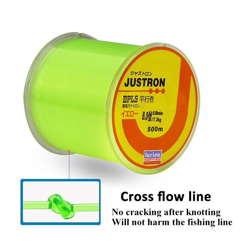 Lures 500 M naylon konu çok renkli olta deniz olta Lures kayalık olta paralel Roll up standı olta