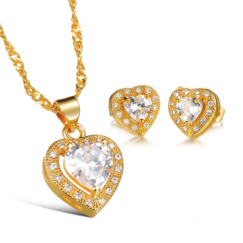 CH 543 Merk Luxe Kubieke Zirkoon Hart Hanger Ketting Rose Goud Kleur CZ Crystal Ketting Vrouwen Gift - 5