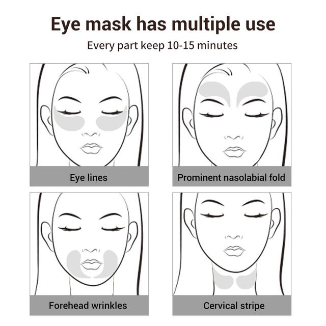 LANBENA Gold Black Pearl Eye Patch Face Mask Collagen Gel  Repairing Wrinkle Skin Erase Eye Bag Lighten Eye Skin Care 60pcs