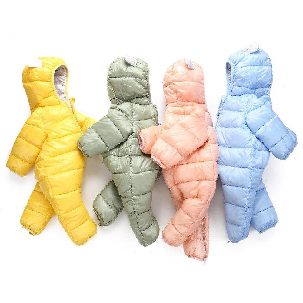 Newborn Korean-Version Winter Rabbit-Ears Cute of Cotton Onesies Candy-Color One-Piece
