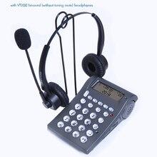 VT400 Draadgebonden Telefoon Met Mono/Binaural Headset & Toetsenblok Voor Huis Call Center Office   Noise Cancellation Microfoon