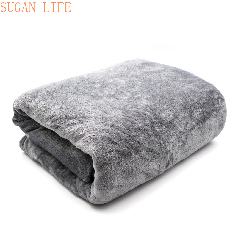 Light Thin  Mechanical Wash flannel Blanket Plaids super warm soft blankets throw on Sofa/Bed/ Travel patchwork solid Bedspread-0