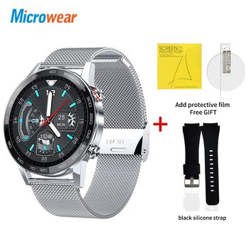 Microwear L16 Smart Watch Men Sports Fitness Tracker IP68 Waterproof Heart Rate Monitor Android IOS Full Touch Screen Smartwatch 19