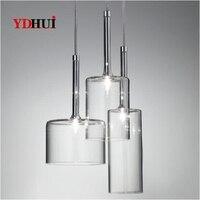 현대 유리 병 크리 에이 티브 펜 던 트 조명 AXO-SPILLRAY 레스토랑 바 luminaire 펜 던 트 램프 산업 장식 조명기구