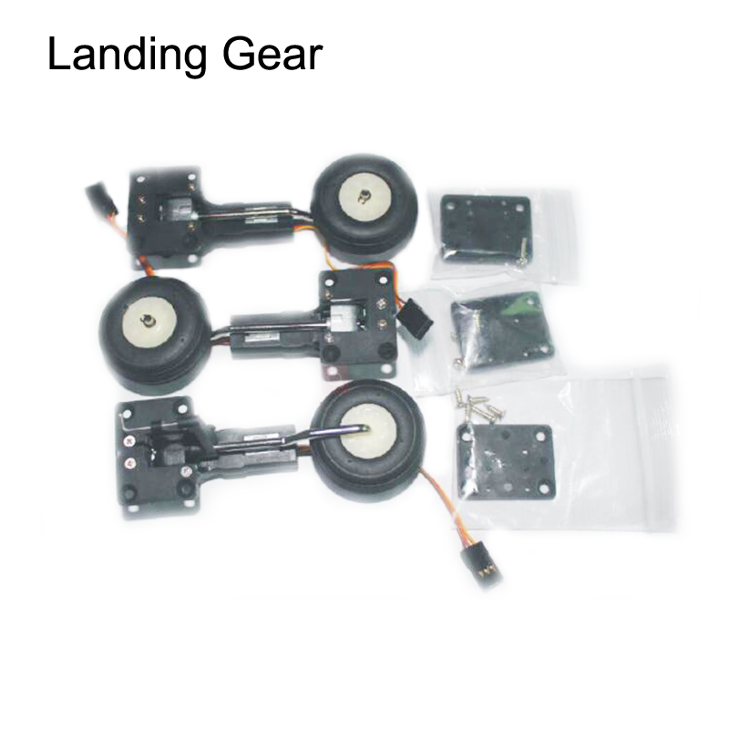 1PCS 25g Digital Servo Metal Electronic Retractable Landing Gear Servo with Front/Rear Wheel For DIY RC Airplane FMS Helicopter image