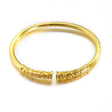 Fashion 3 Colors Monkey King Bar Bracelet Sun Wukong Golden Cudgel Open Cuff Bangle Men Women Bracelets Jewelry(China)