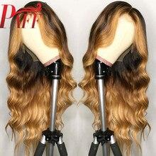 PAFF 13 * 6 partie profonde vague de corps avant lacet perruques cheveux humains mettre en évidence la couleur 180Desnity