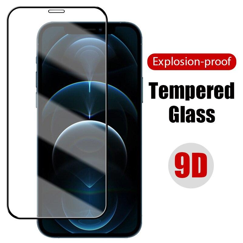 Защитное стекло 9D для iPhone 11 12 Pro XR Max X XS Mini 6 6S 7 8 Plus iPhone SE 2020