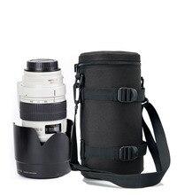 11x25cm lente bolsa bolsa para 70 200mm f/2.8 canon nikon sony tamron sigma lente da câmera