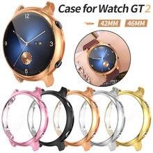 Para huawei relógio gt 2 42mm 46mm 2e caso tpu protetor de tela capa para gt2 pro assista resistente a riscos escudo acessórios para carros