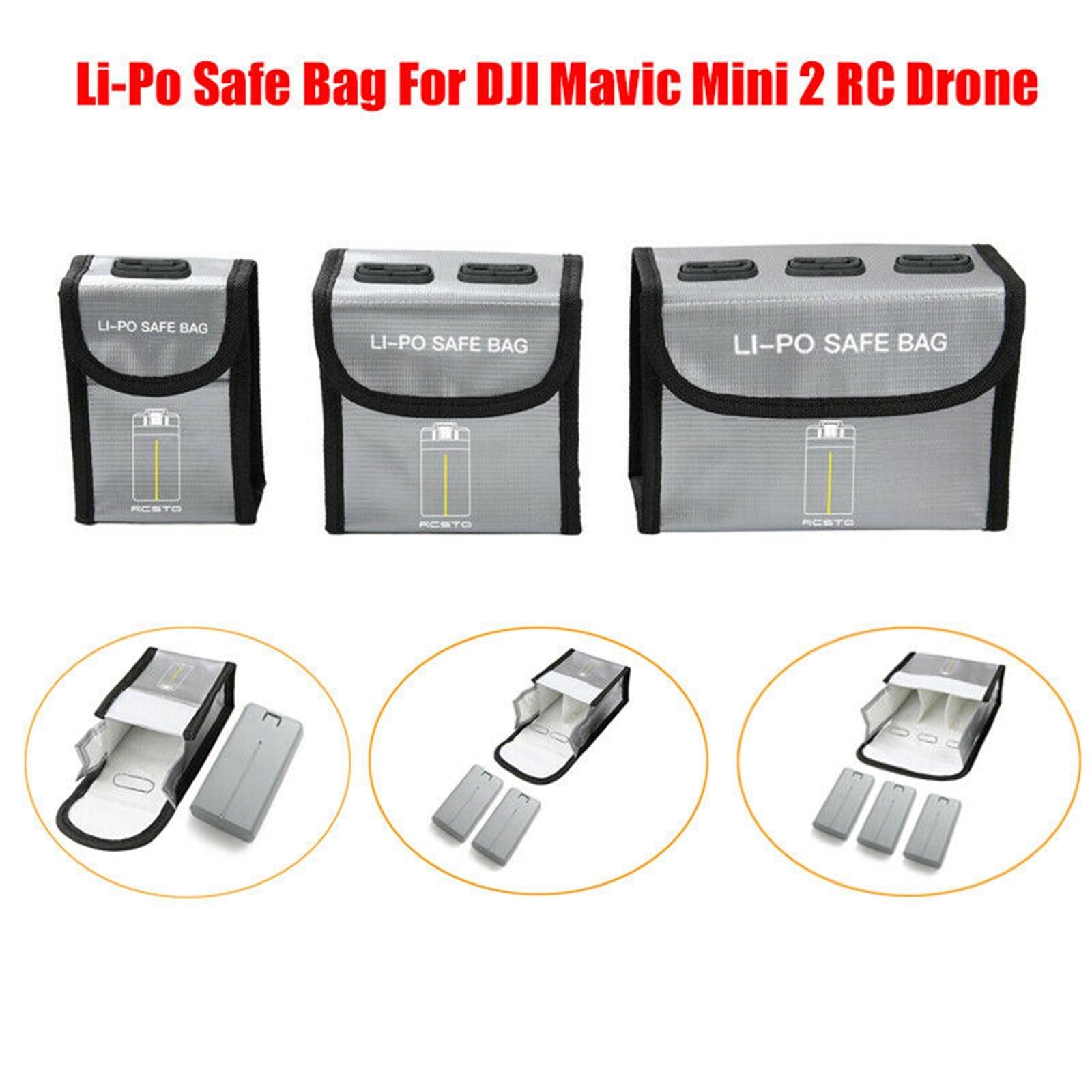 À prova de fogo impermeável lipo bateria saco de armazenamento à prova de explosão saco de segurança resistente ao fogo para dji mavic mini 2 zangão bateria sacos
