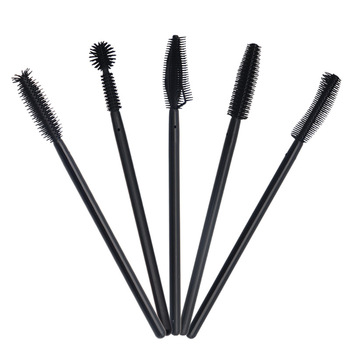 50 pcs Disposable Silicone Eyelashes Brushes  Applicator Eye Lash mascara wands Brush Eyelash Extension women Makeup Tools 1