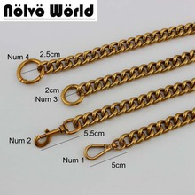1-5 piece 60-130cm Aluminum Chain 17mm 5 colors Roller metal Thick light weight chain for hand bags long strap replace