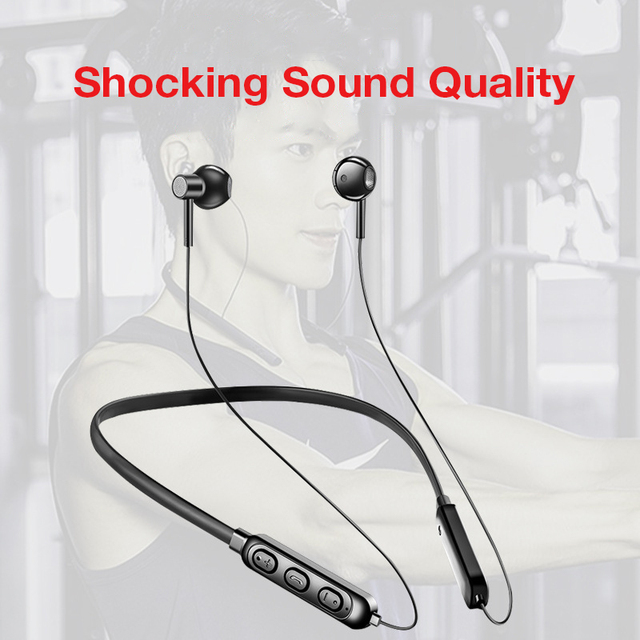 KUSDO Bluetooth Earphone Wireless Headphones Sports Earbud Neckband Stereo Bluetooth Headset with Mic for xiaomi