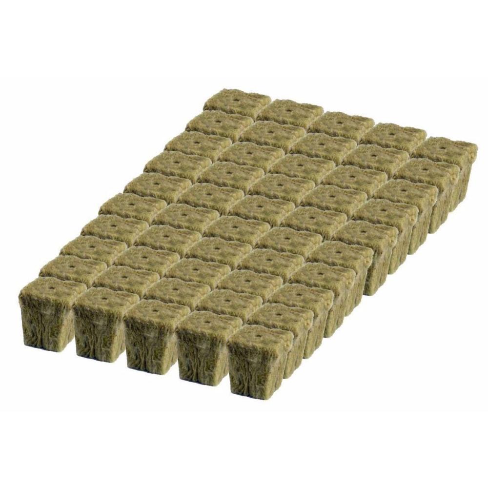50pcs A Sheet Soilles Plantin Sponge Planting Grow Grodan Starter Cubes Rockwool Media Spread Cloning Rock Wool Cubes