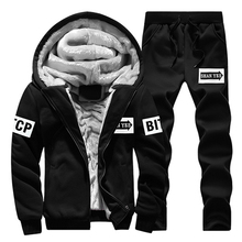 Winter Trainingspakken Mannen Set Casual Thicken Fleece Warm Hooded Jas Broek Lente Sweatshirt Sportkleding Jassen Hoodie Traini