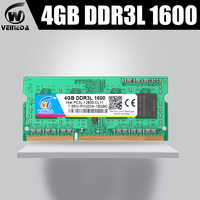 VEINEDA ddr3l sodimm 4GB 8GB 1333MHz o 1600MHz 1,35 V 204pin PC3L portátil de memoria ram NON-ECC
