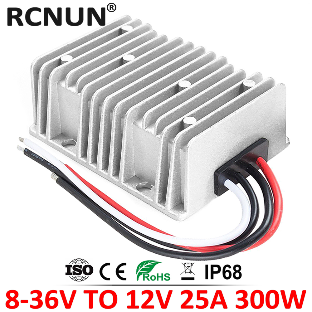 8 36V TO 12V 15A 20A 25A Automatic Boost Buck DC DC Converter 13.8 Volt to 12 Volt Car Power Supply Voltage Stabilizer CE RoHSdown converterconverter 24v 12v24v 12v -