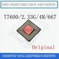 Ноутбук Core 2 Duo T7600 cpu 4M Разъем 479 кэш/2,33 ГГц/667 двухъядерный процессор для ноутбука поддержка 945
