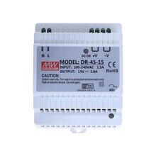 DR 45 45 واط إخراج واحد 5 فولت 12 فولت 15 فولت 24 فولت Din السكك الحديدية تحويل التيار الكهربائي