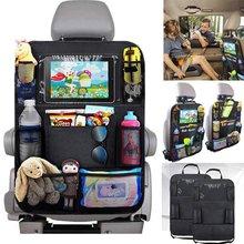 1pc Organizer na siedzenie samochodowe pokrowiec do przechowywania z Tablet z ekranem dotykowym uchwyt Protector dla dzieci dzieci akcesoria samochodowe