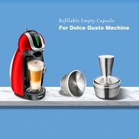 Novo nescafe dolce gusto cápsula recarga de aço inoxidável recarregável porte dolce gusto cápsula reutilizável dolce gusto café capsula|Filtros de café| |  -