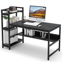 Tribesigns компьютерный стол с 4 круглый Ланч-бокс для хранения полки, 60 дюймов современный большой офисный стол компьютерный стол изучения письменный стол для работы