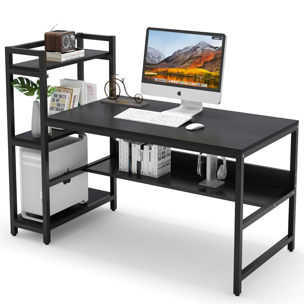 Tribesigns Computer Desk with 32 Tier Storage Shelves, 32 inch