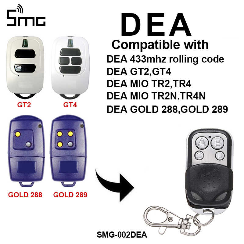 Dea Mio Tr2 Replacement Remote Control Transmitter Gate Key Fob 433 92 Mhz Aliexpress