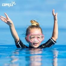 COPOZZ Underwater Scuba Diving Mask and Snorkel Anti-Fog Goggles Glasses Swimming Easy Breath Tube Set for Kids Children