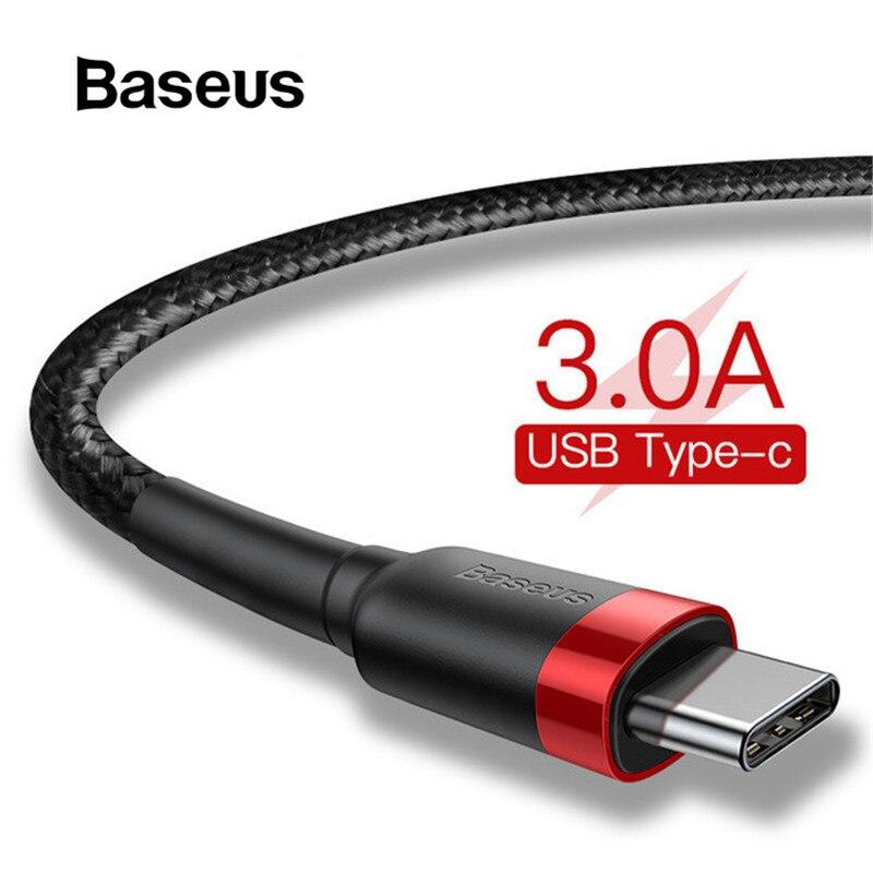 Baseus USB Type C кабель для Samsung S10 S9 Quick Charge 3,0 кабель USB C Быстрая зарядка для Huawei P30 Xiaomi USB-C зарядное устройство
