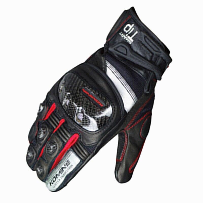 Летние Мотоциклетные Перчатки Komine для мужчин GK 220/GK 183/GK 194/GK 162, перчатки для езды на мотоцикле, мотогонок, полный сенсорный экран