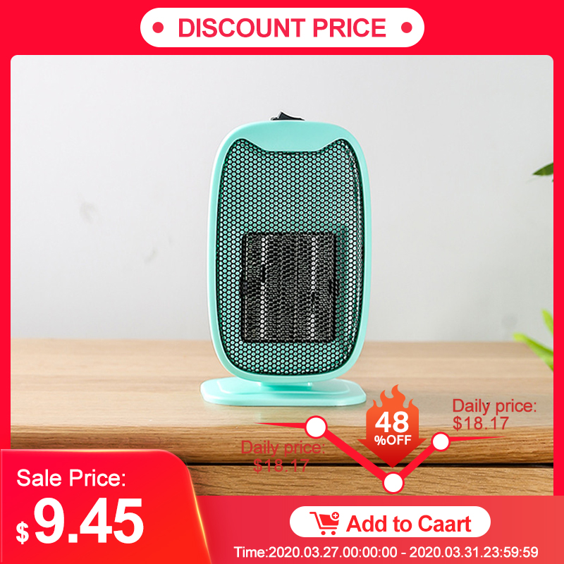 500W Portable Mini Heater Intelligent Constant Temperature Auto Power Off Winter Warmer With Cooling Fan For Home Office
