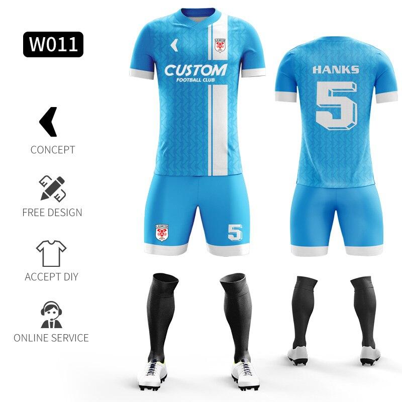 Custom Football Jerseys Full Sublimation Printing Soccer Jerseys Club Team Football Training Uniform Suit Soccer Uniform For Men 21