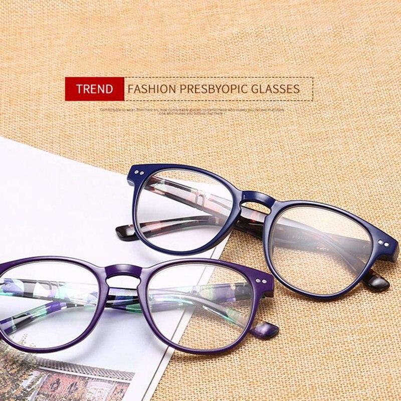 Fashion Reading Glasses Retro Style Round Men Women Female PC Lunettes De Lecture Pour Homme 1.0 1.5 2.0 2.5 3.0 3.5