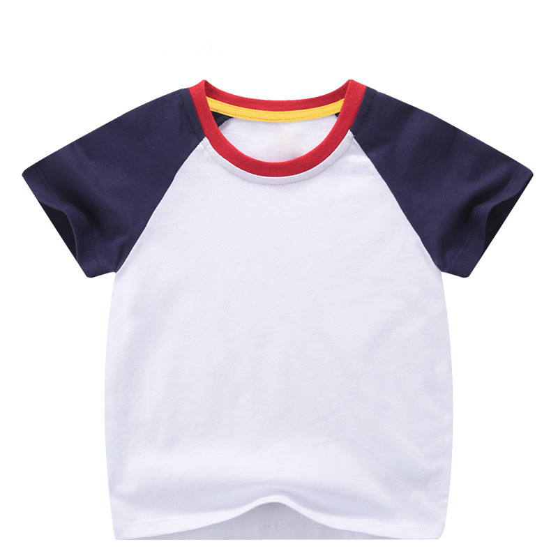 VIDMID boys girls short sleeve t-shirts tees kids cotton clothes tops t-shirts boys candy color tees tops children tees 7042 03 5