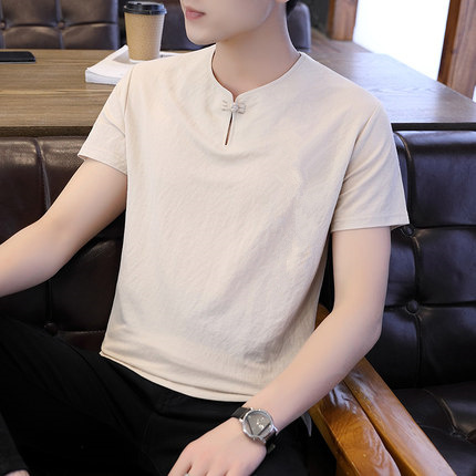 Men's Casual Short-sleeved T-shirt Wild Clothes Tide  2707