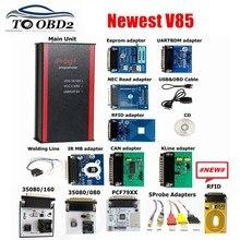 Neueste Iprog + V85 Pro Programmierer Unterstützung IMMO + Laufleistung Korrektur + Airbag Reset bis die jahr 2019 Ersetzen Carprog/Tango/Digiprog