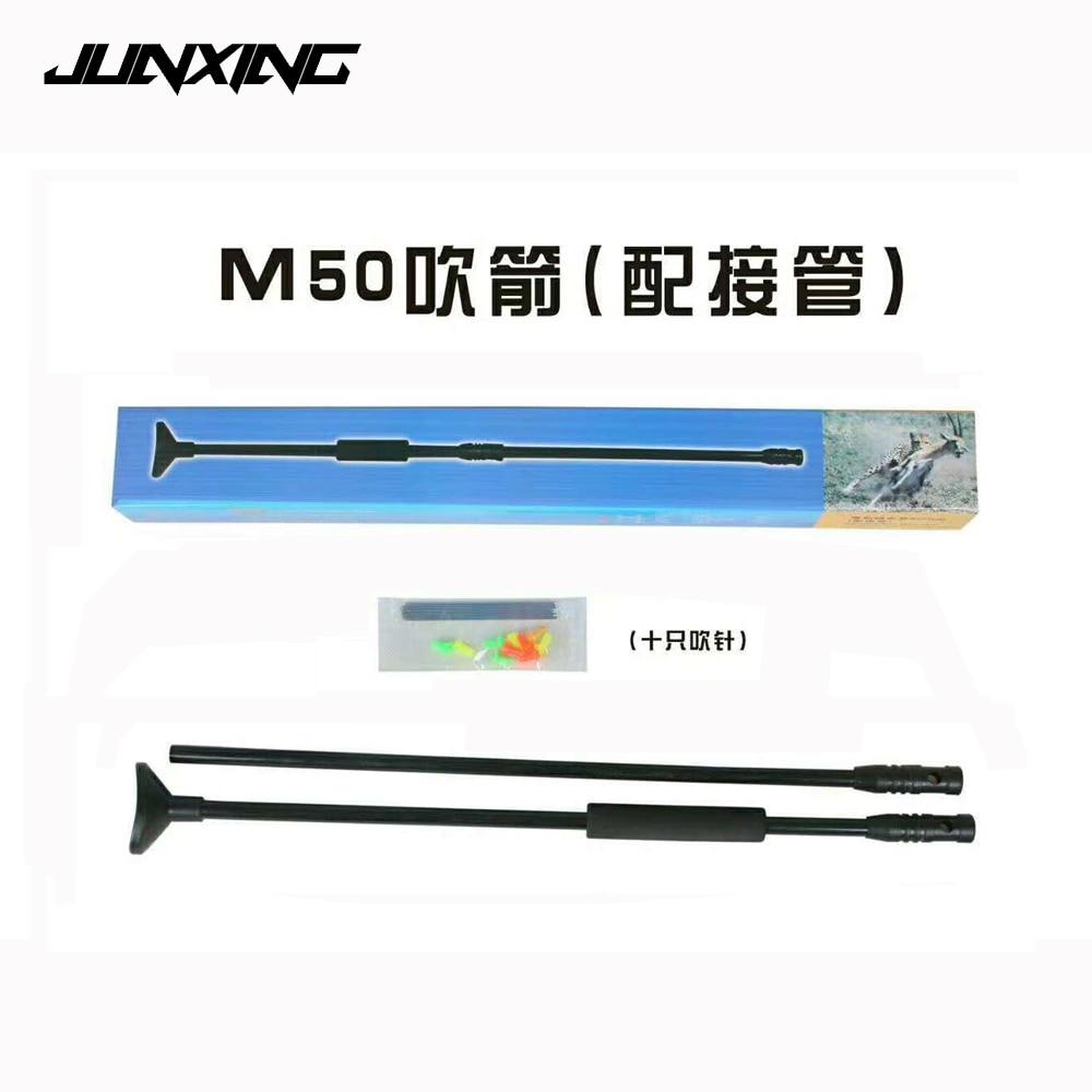 Hunting Blowgun M50 Black Blow Gun with Junction Tube and 20pcs Metal Needle
