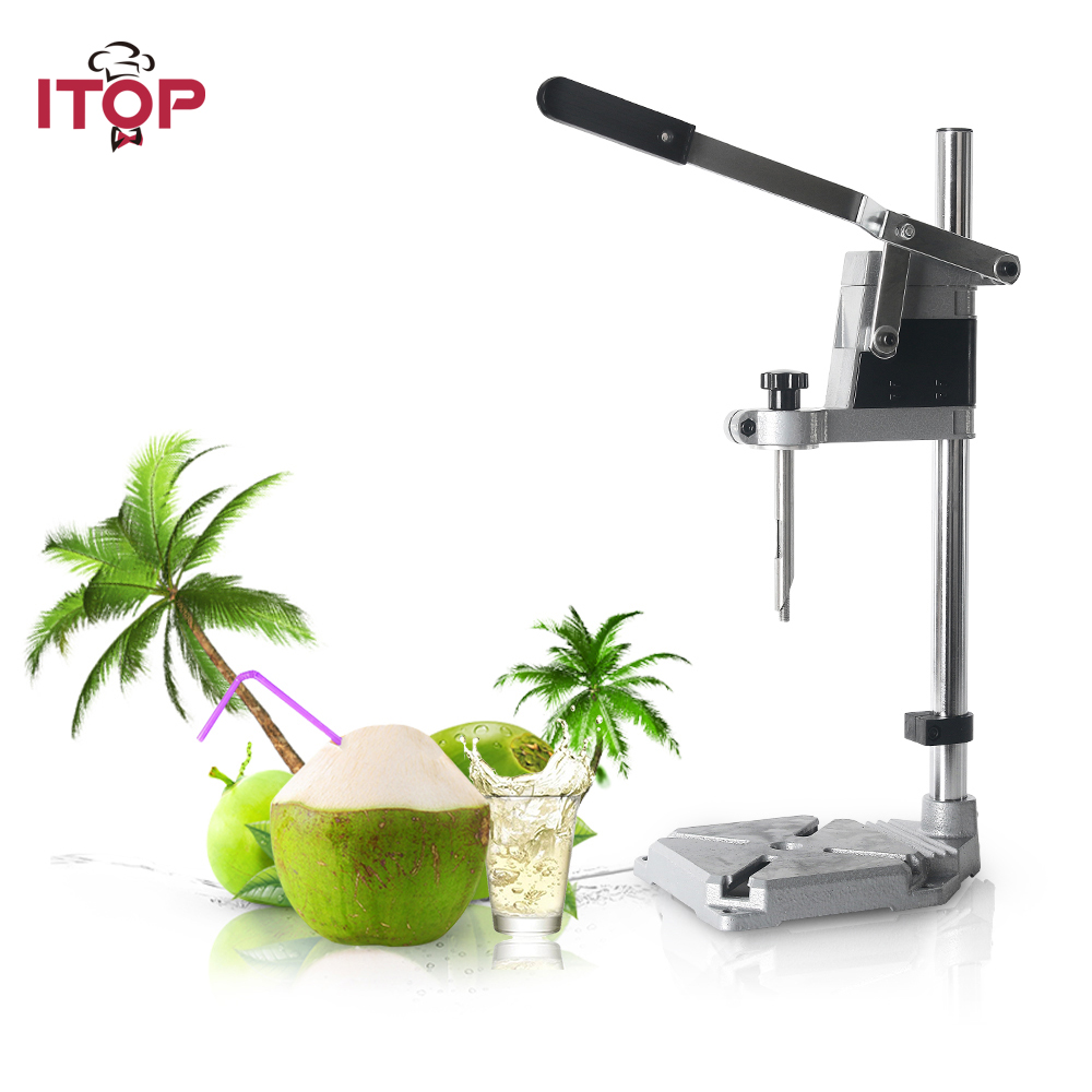 ITOP Stainless Steel Green Coconut Opening Devices Kitchen Fruit Cut Knife Hole Cutting Tool Drill Durable Driller