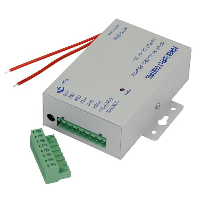 DC12V 3A جديد نظام مراقبة الدخول امدادات الطاقة التبديل التيار المتناوب AC110V 260V تأخير وقت الإدخال ل قفل باب نظام اتصال داخلي الفيديو K80