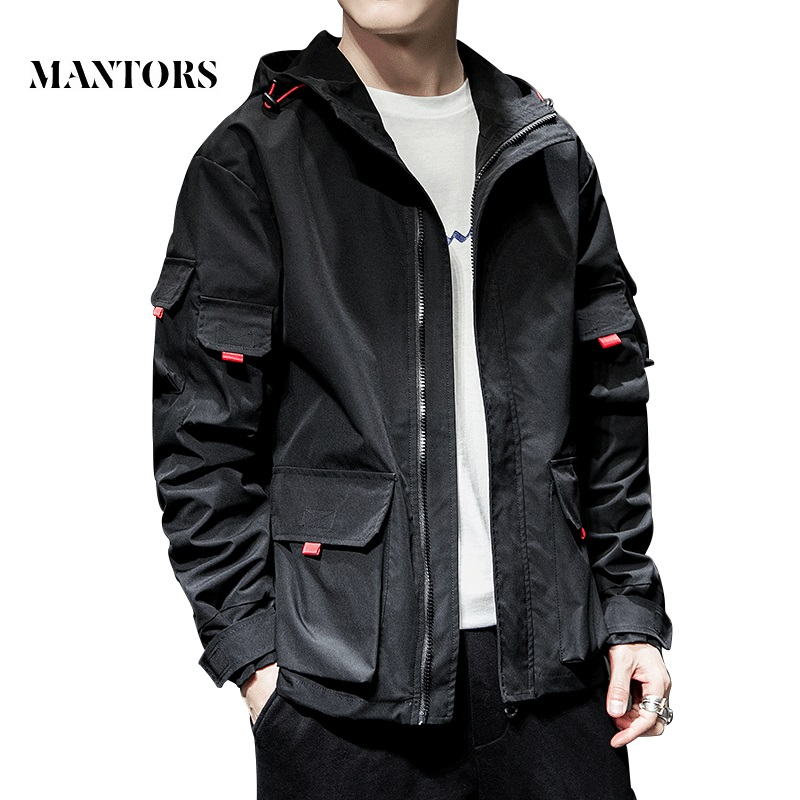 2020 New Jacket Men Spring Autumn Casual Solid Zipper Bomber Jackets Streetwear Overcoat Baseball Mens Thin Pilot Hooded Jacket