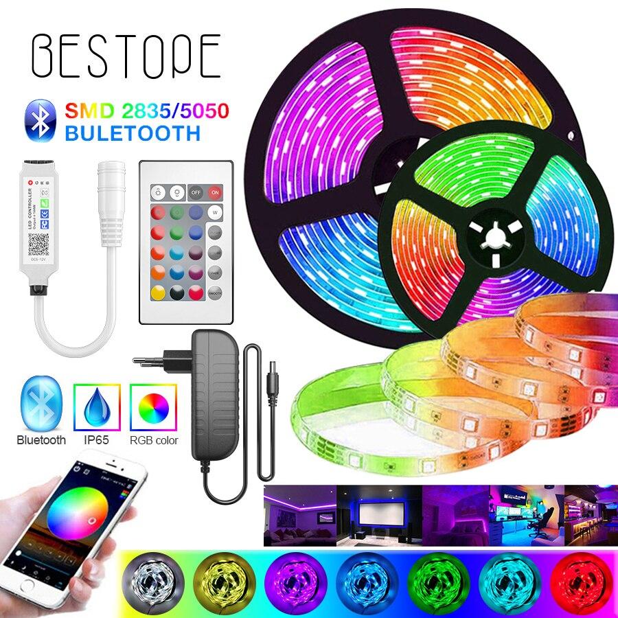 2 м-возможностью погружения на глубину до 30 м светодиодный RGB 5050 полосы светильник s SMD гибкие Bluetooth ленты 2835 не Водонепроницаемый RGB светодиод...